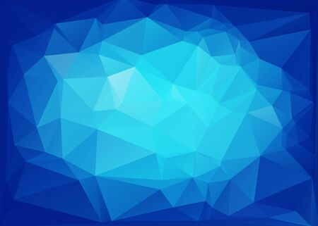 crystal background: Blue Polygonal Mosaic Background