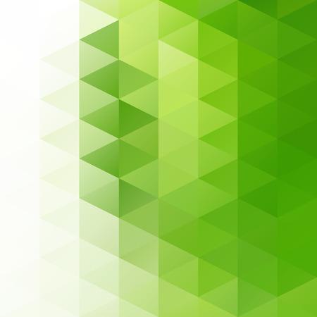 グリーン ・ グリッドのモザイクの背景、創造的なデザイン テンプレート