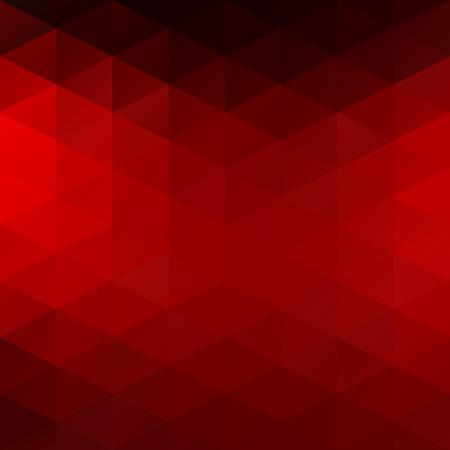 abstrakte muster: Red Grid Mosaic Hintergrund, kreatives Design Vorlagen Illustration