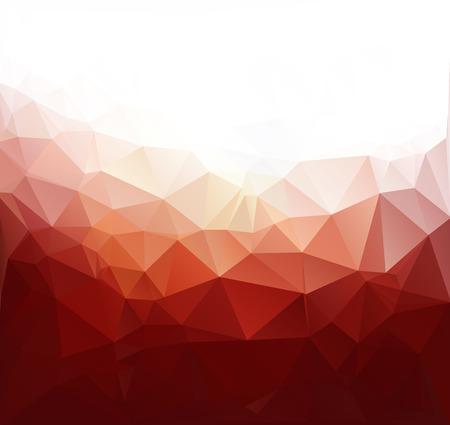 레드 다각형 모자이크 배경, 크리 에이 티브 디자인 템플릿