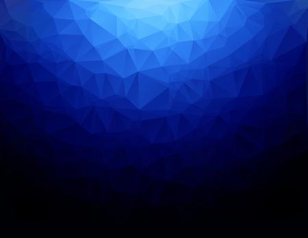 abstrakte muster: Blau Polygonal Mosaic Hintergrund, kreatives Design Vorlagen Illustration