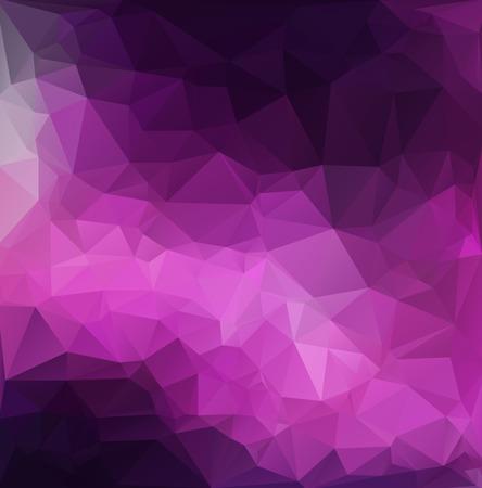 morado: Antecedentes del mosaico púrpura poligonal, las plantillas del diseño creativo Vectores