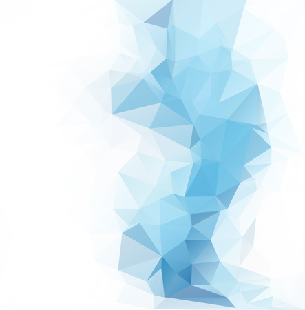 abstract waves: Blue Polygonal Mosaic Background, Creative Design Templates