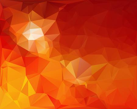 オレンジ色の多角形モザイク背景、創造的なデザイン テンプレート  イラスト・ベクター素材