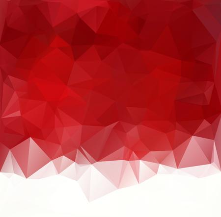 Red Polygonal Achtergrond van het Mozaïek, Creative Design Templates Stock Illustratie