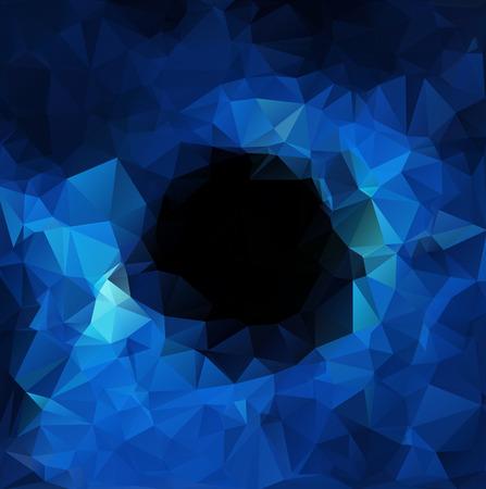 青い多角形のモザイクの背景、創造的なデザイン テンプレート  イラスト・ベクター素材