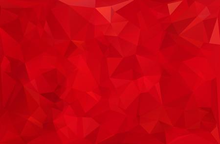 poligonos: Antecedentes del mosaico poligonal Rojo, plantillas de diseño creativo Vectores