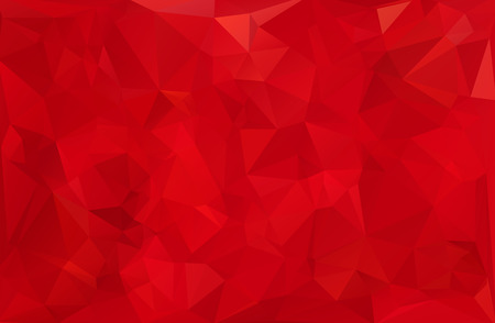 geometric background: Antecedentes del mosaico poligonal Rojo, plantillas de dise�o creativo Vectores