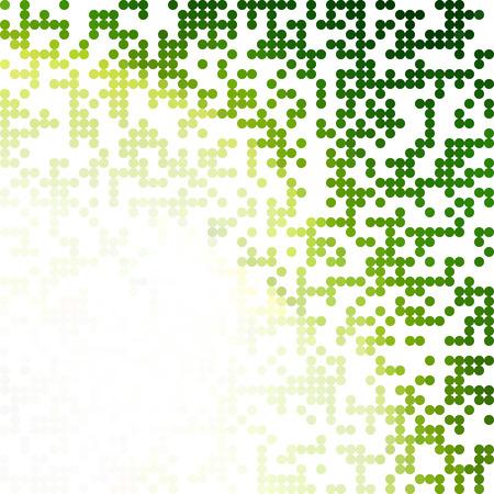 Green Random Dots Background