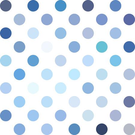Blue Polka Dots Background