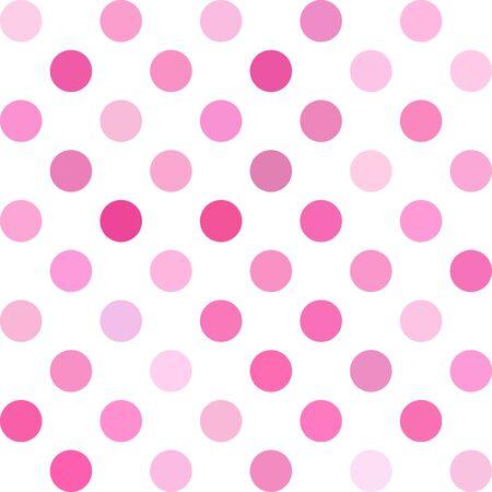 dots background: Pink Polka Dots Background Illustration