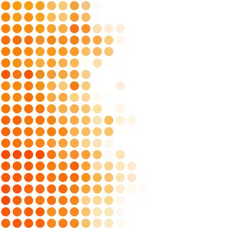 Orange Punkte Hintergrund, kreatives Design Vorlagen