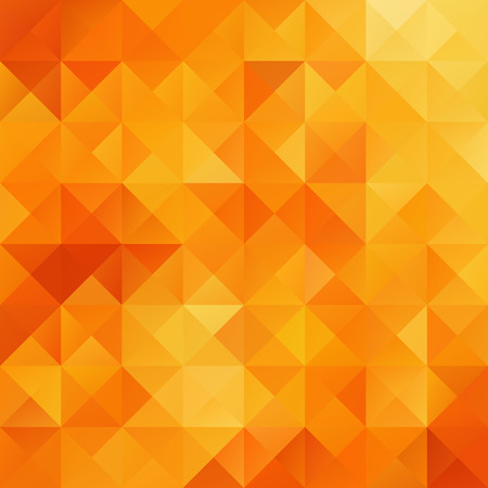 mosaic: Orange Grid Mosaic Background, Creative Design Templates Illustration