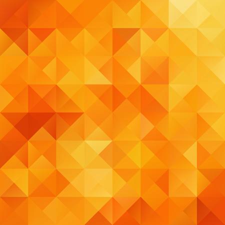 Orange Grid Mosaic Hintergrund, kreatives Design Vorlagen Illustration
