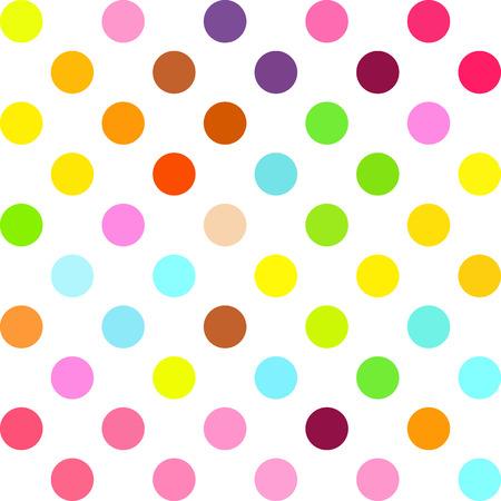 Colorful Polka Dots Background, Creative Design Templates Illustration