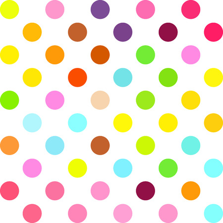 Colorful Polka Dots Background, Creative Design Templates Illustration
