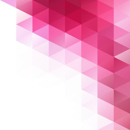 핑크 그리드 모자이크 배경, 크리 에이 티브 디자인 템플릿 일러스트