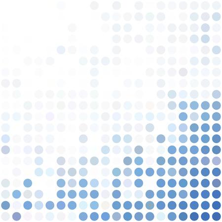 ブルーのドット背景、創造的なデザイン テンプレート