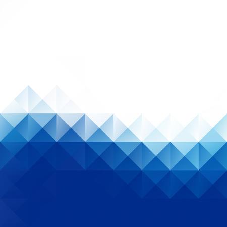 vague: Bleu Grille Mosaic Background, Creative Modèles de conception Illustration
