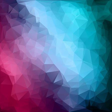 다채로운 다각형 모자이크 배경, 크리 에이 티브 디자인 템플릿 일러스트