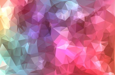 カラフルな多角形のモザイクの背景、創造的なデザイン テンプレート  イラスト・ベクター素材
