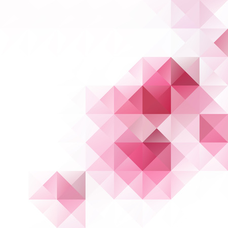 Pink Grid Mosaic Background, Creative Design Templates Vettoriali