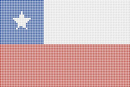 bandera chile: Chile Flag Dot Vector Vectores