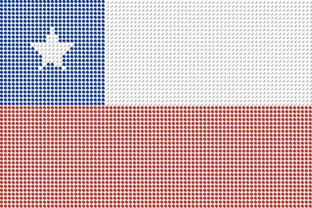bandera chile: Chile Flag Dot Vector Vectores