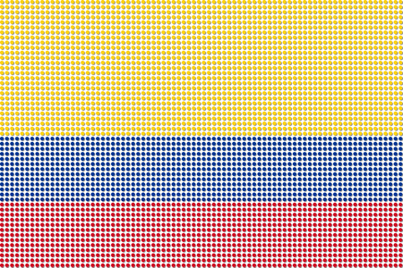 bandera de colombia: Colombia Bandera Dot vectorial