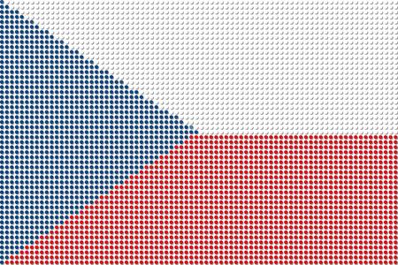 czech republic flag: Czech Republic Flag Dot Vector
