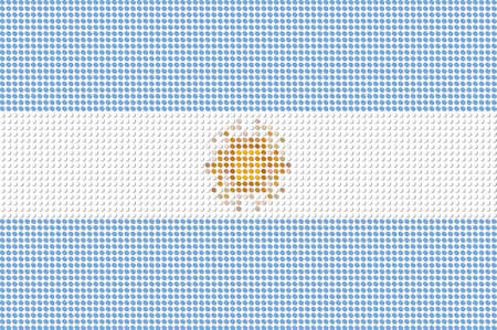 argentina flag: Argentina Flag Dot Vector Illustration