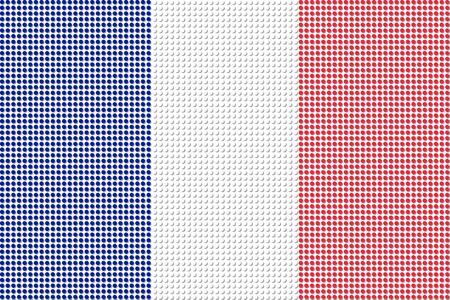 flag french icon: France Flag Dot Vector Illustration