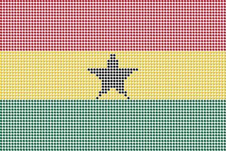 Ghana: Ghana Flag Dot Vector