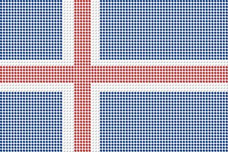 iceland flag: Iceland Flag Dot Vector