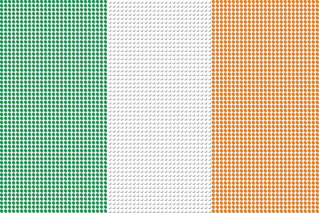 ireland flag: Ireland Flag Dot Vector