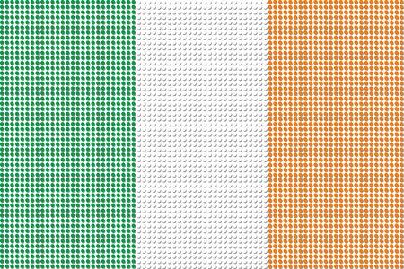 bandera irlanda: Irlanda Bandera Dot vectorial