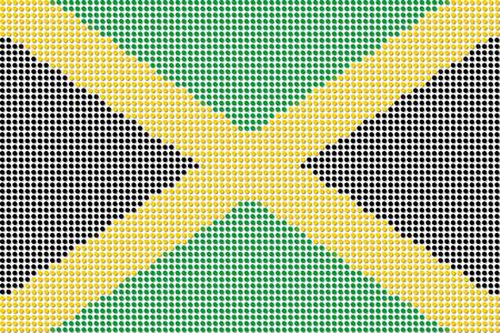 jamaica: Jamaica Flag Dot Vector Illustration