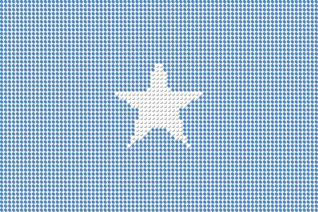 somalia: Somalia Flag Dot Vector Illustration