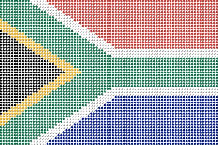 south africa flag: South Africa Flag Dot Vector