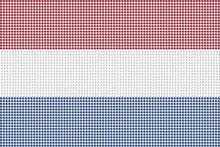 netherlands flag: Netherlands Flag Dot Vector Illustration