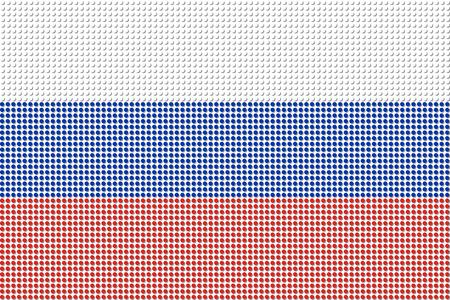 bandera rusia: Rusia Bandera Dot vectorial Vectores
