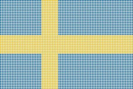 bandera suecia: Vector de la bandera de Suecia Dot