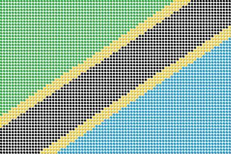 tanzania: Tanzania Flag Dot Vector Illustration