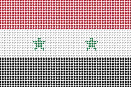 Syria: Syria Flag Dot Vector Illustration