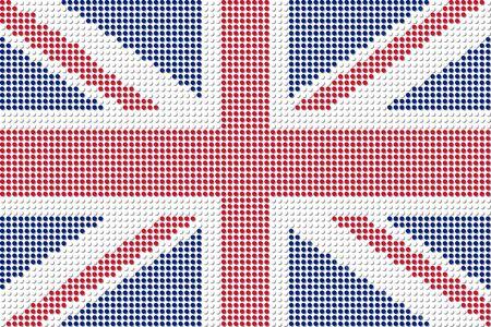 United Kingdom Flag Dot Vector
