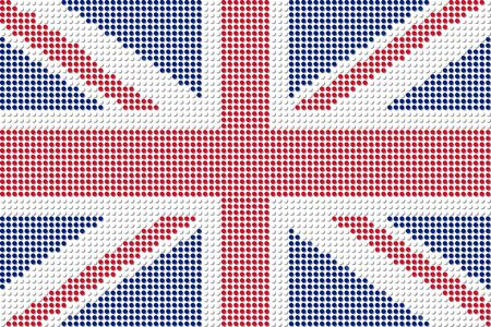 United Kingdom Flag Dot Vector