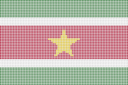 suriname: Suriname Flag Dot Vector Illustration