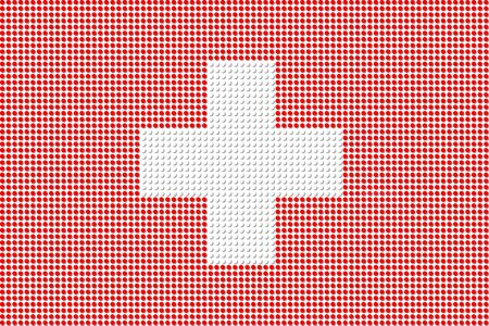 swiss flag: Switzerland Flag Dot Vector Illustration