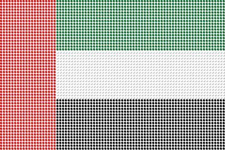 emirates: United Arab Emirates Flag Dot Vector Illustration