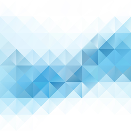 digitální: Modré Grid mozaika pozadí, kreativní design šablony